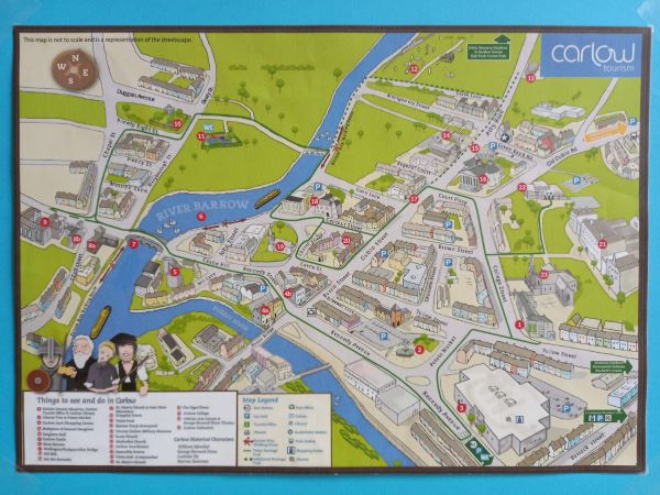 Carlow Town Map